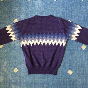 Vintage Sweaters - ❤️ RARE Vintage Purple Chevron Sweater Pullover